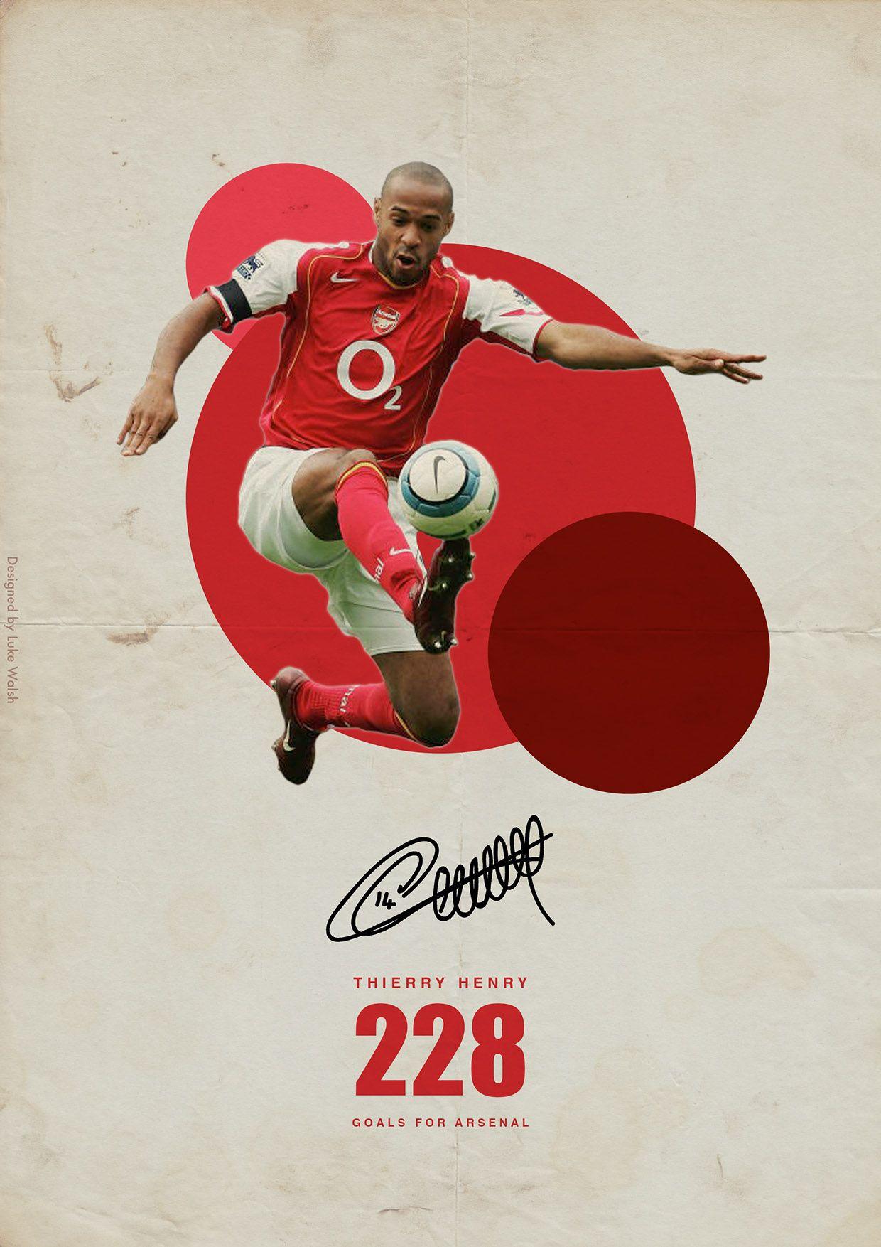 0559d637c Premier League Legends on Behance - Thierry Henry - Arsenal ...
