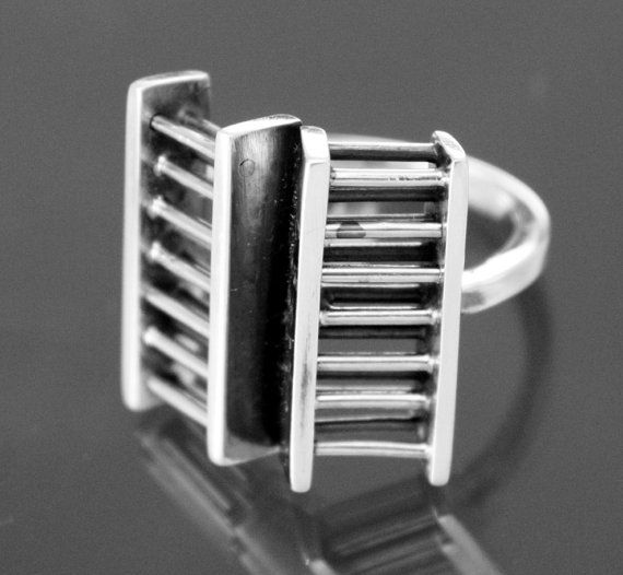modern high fashion fine  silver 950k ring by TodescoArtjewelry, $80.00