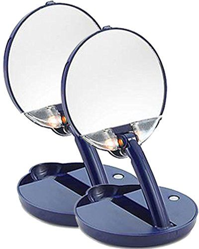 Floxite Lighted Adjustable Mirror15x2 Pack Blue You Can Find