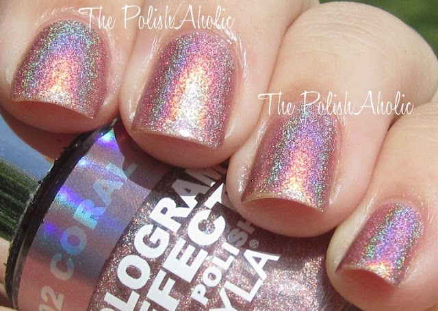 Layla Hologram Effect Coral Glam