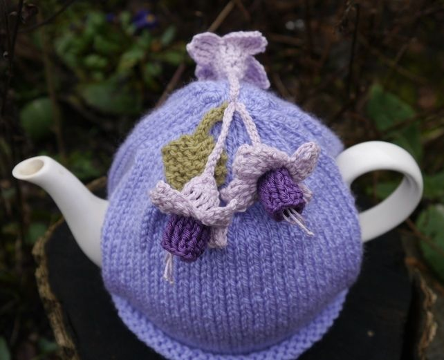 Fuchsia Flower Tea Cosy Lilac Teacozy Crochet Tea Cozy Tea Cosy Tea Cozy Pattern