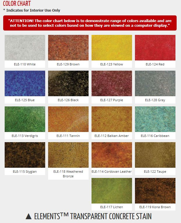Butterfield color offers  line of water based concrete stains called elements transparent stain it features choices also rh pinterest