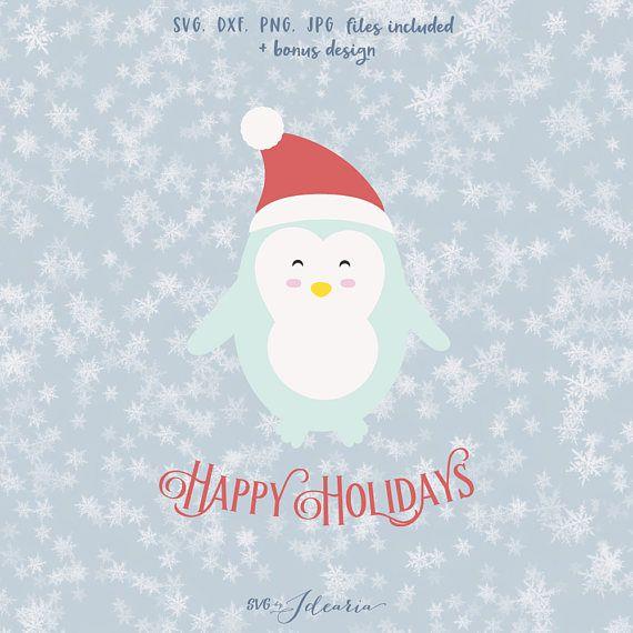 penguin christmas svg svg santa hat svg svg santa christmas