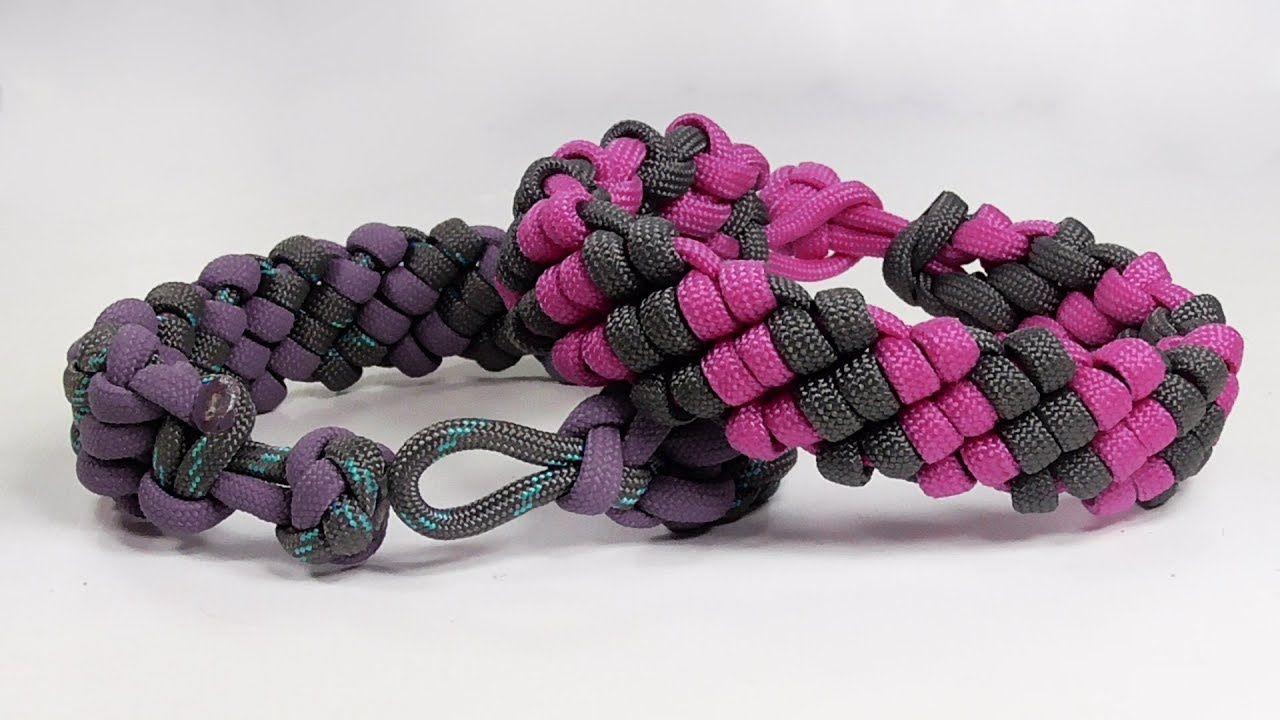 How to make a candy stripe paracord bracelet design