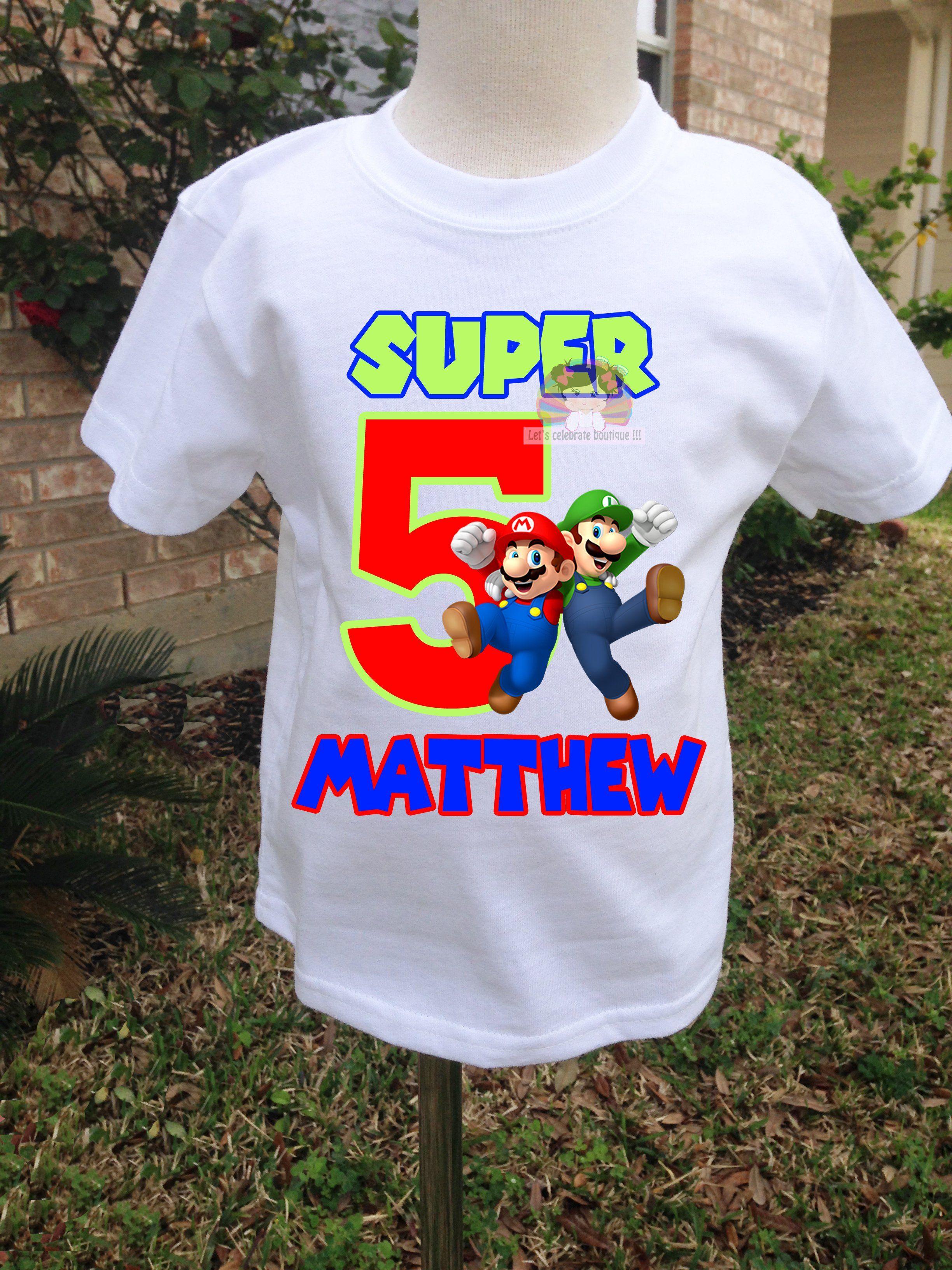 super mario birthday shirt
