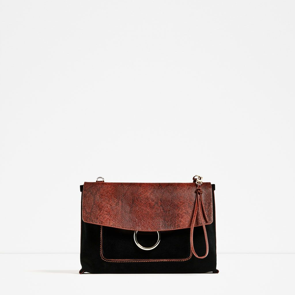 5bc1783fbd CONTRAST SPLIT SUEDE CLUTCH from Zara | I got to bag it up, bag it ...