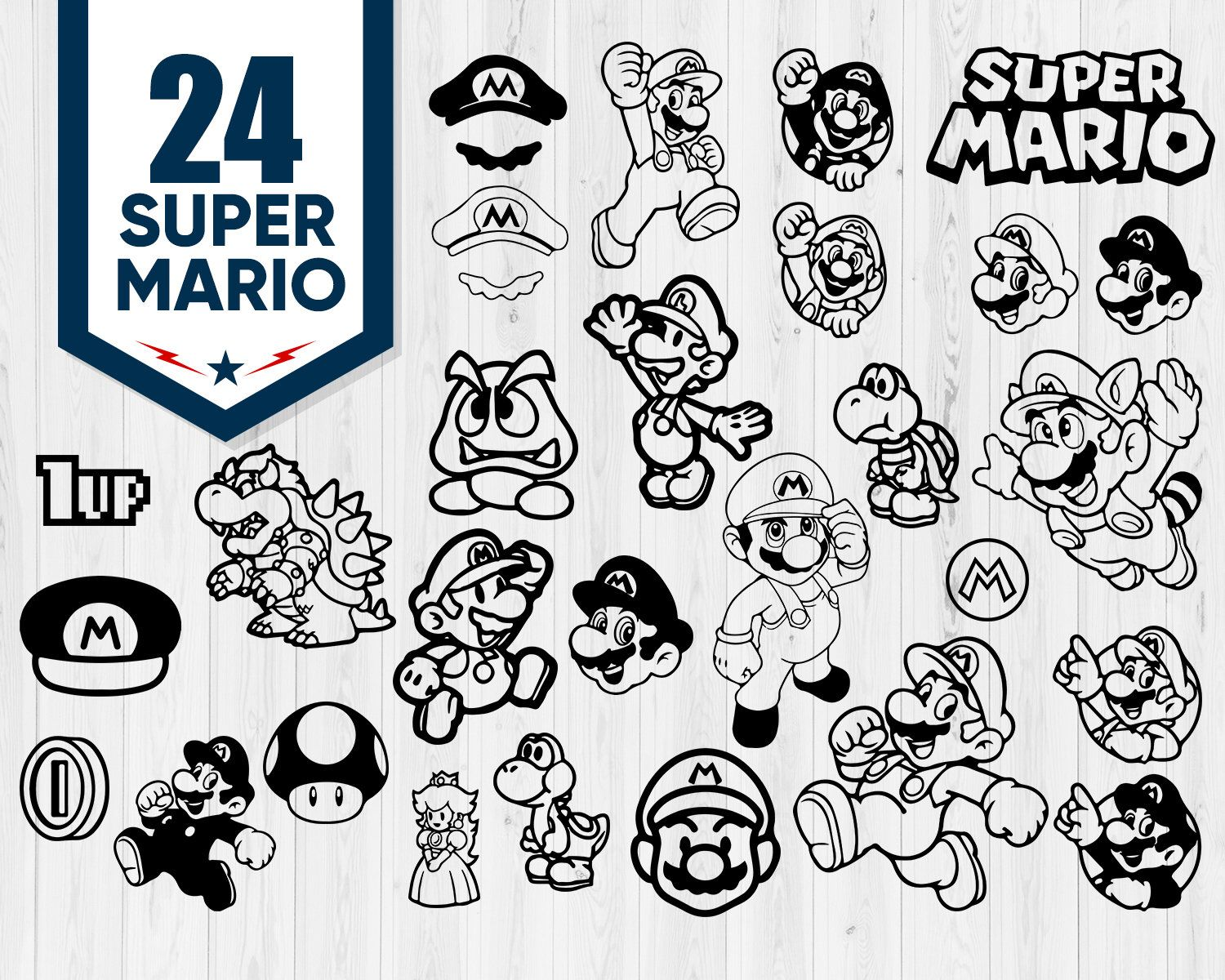 Super Mario Svg Mario Svg Super Mario Clipart Yoshi Svg Super Mario Bros Svg Luigi Svg Mario Clipart Ma Video Game Room Design Super Mario Etsy Download