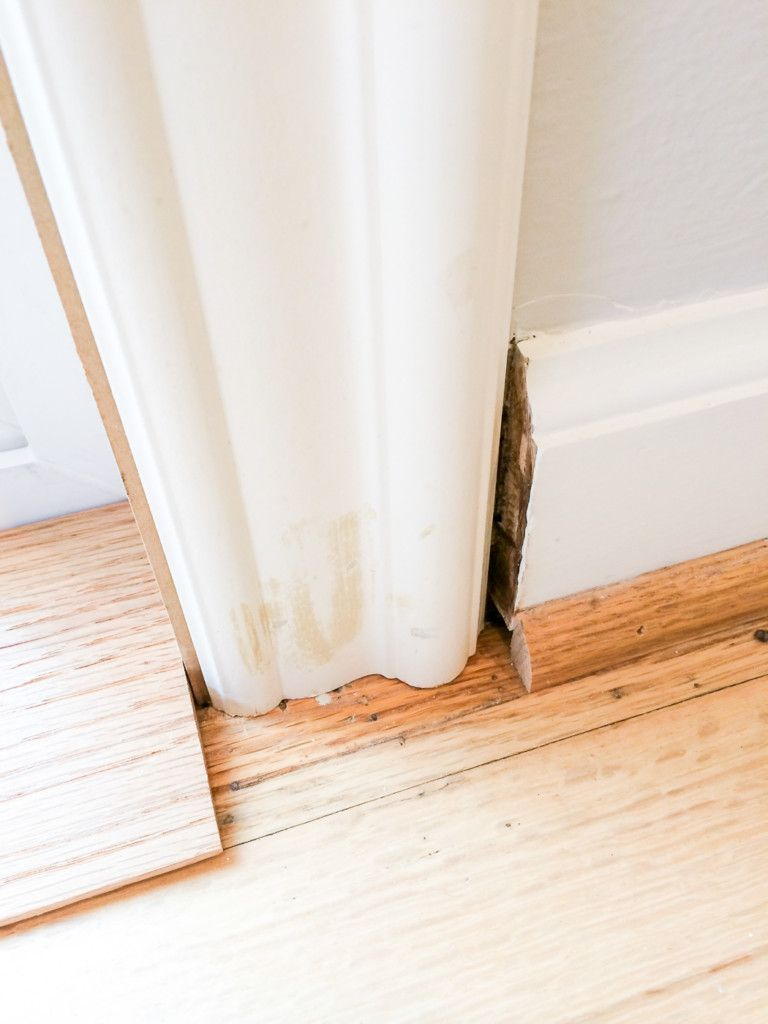 The Transition From New Sliding Glass Door Trim To Baseboards Was A Mess Plinth Block Perfect Solution