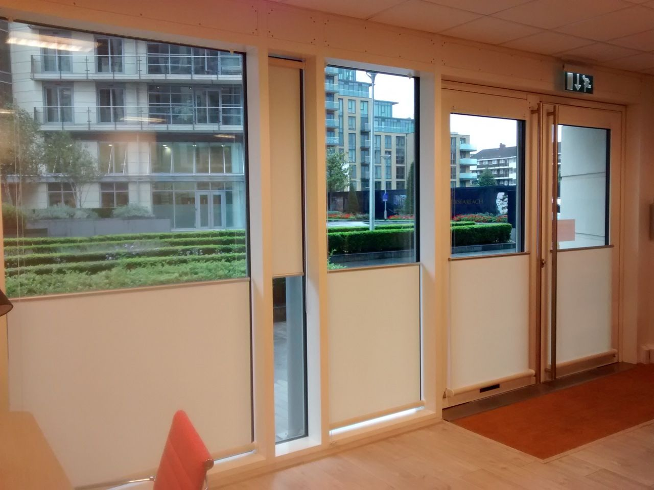 Bottom up roller blinds installed for an architecture studio by The