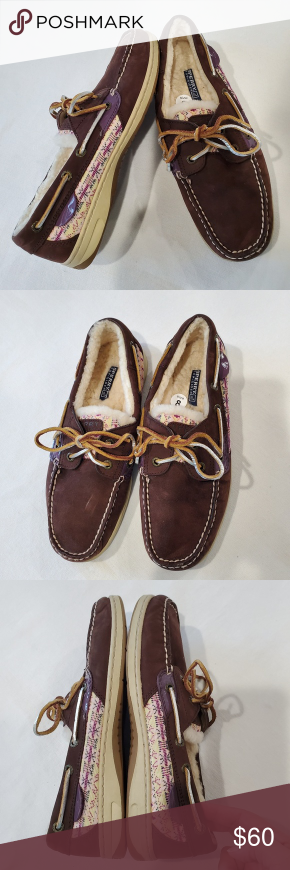 NEW SPERRY TOP-SIDER Bluefish fur lined