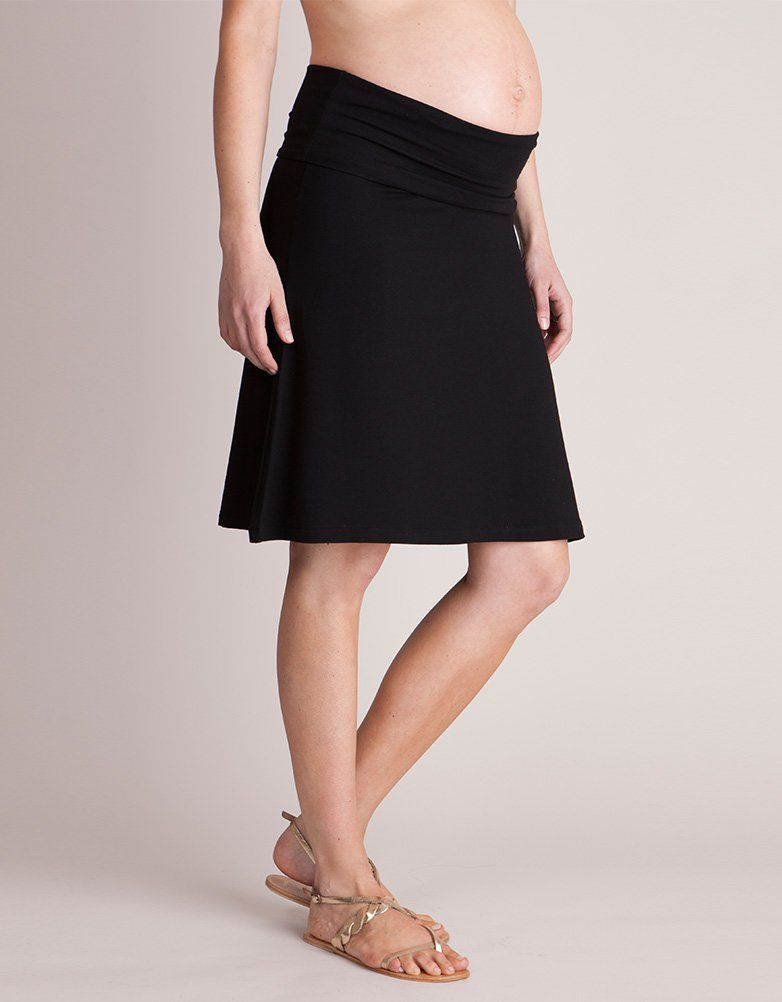 Black Tiered Crinkle Maxi Skirt, Plus size 16 to 36