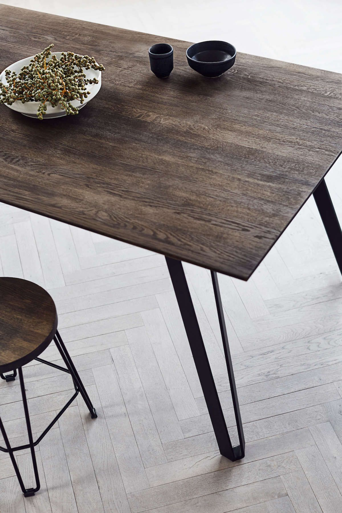 Dining Table Space Smoked L220 Dining Table In Kitchen Rectangular Dining Room Table Dining Table