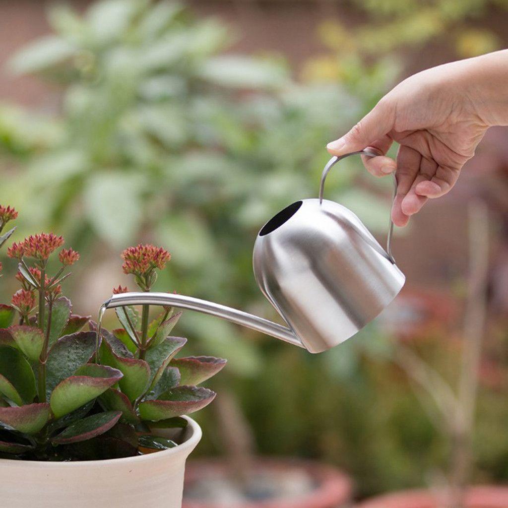 Garden Metal Flower Kettle Mini Small Water Spraying Pot Watering Can Green