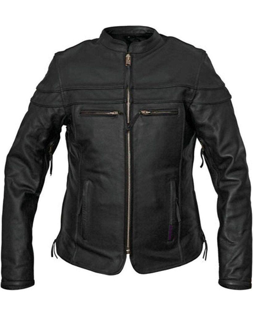 Interstate Moxie Womens Motorcycle Jacket Black Leather I5374 Small Motorcycle Jacket Women Motorcycle Jacket Leather Women [ 1024 x 819 Pixel ]