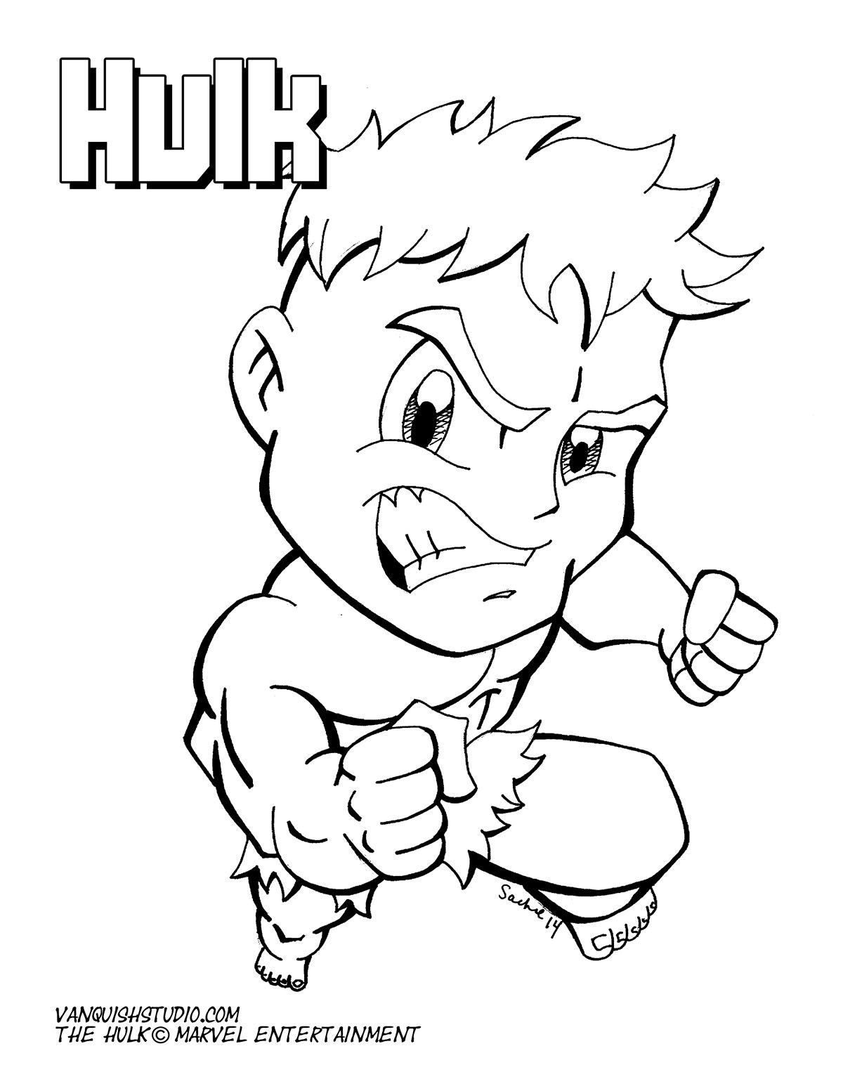 Baby Hulk Coloring Pages : coloring, pages, Chibi-Fusion, Coloring, Pages,, Chibi, Avengers, Pages