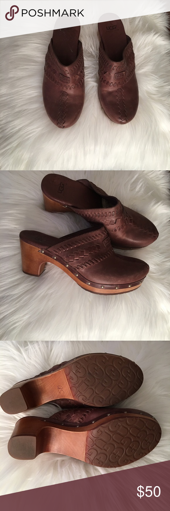 69093cdec89 New leather clogs, just a flaw due to storage 100% leather, genuine ...