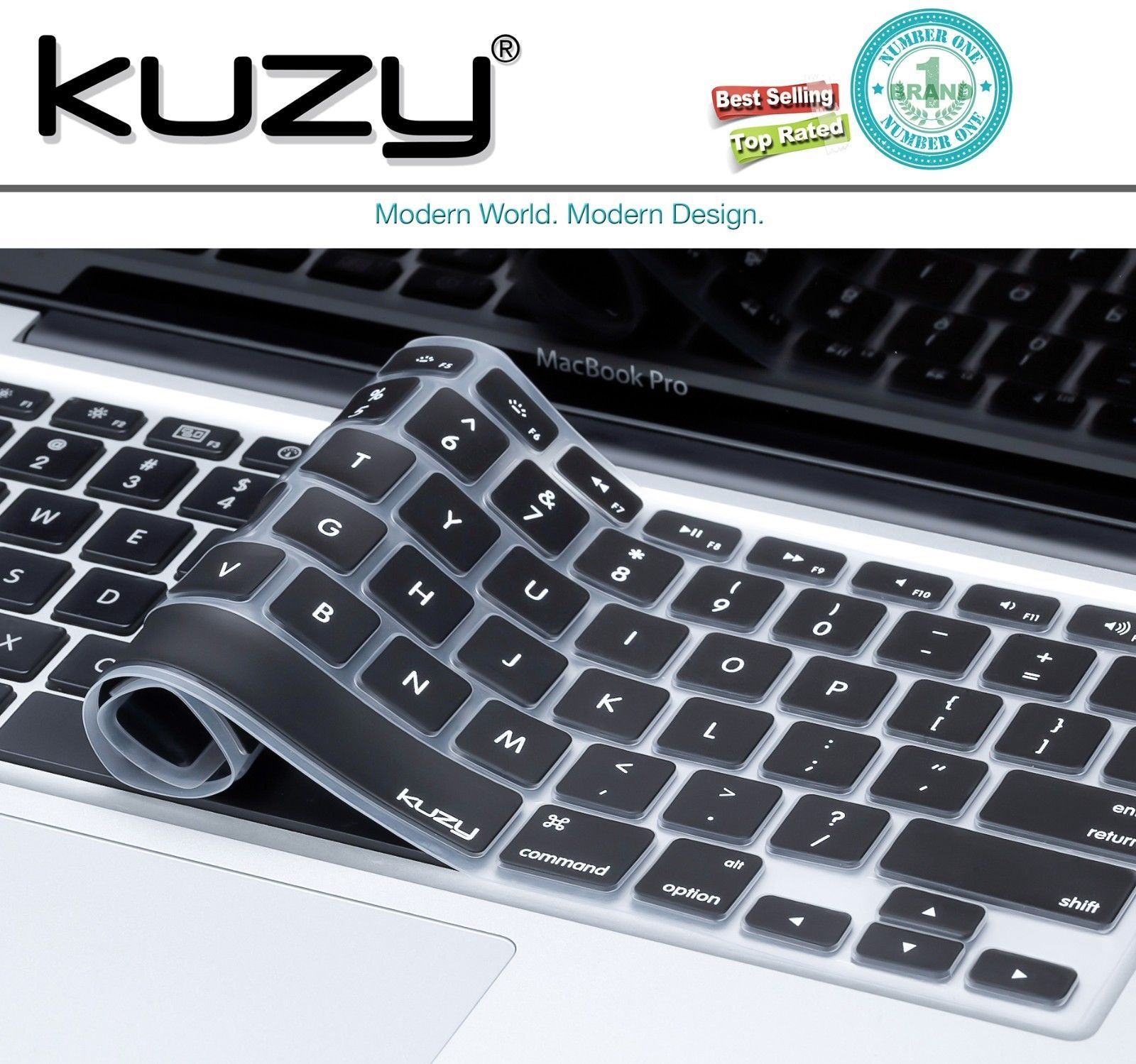 Kuzy keyboard cover for macbook pro air silicone skin