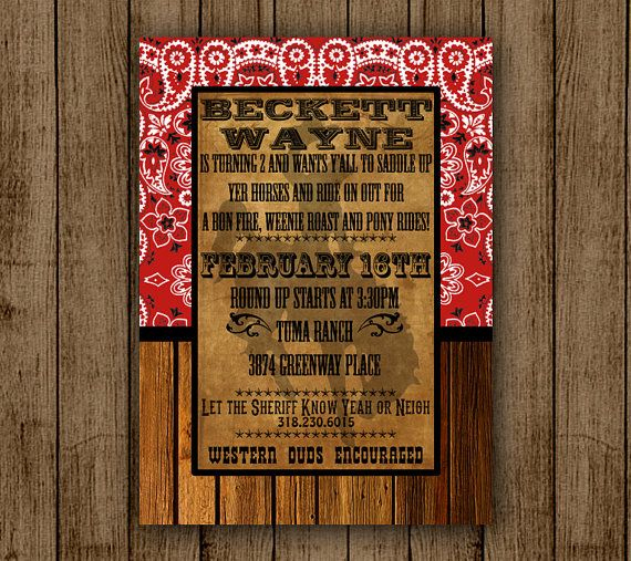 cool country western graphics Google – Western Themed Party Invitations