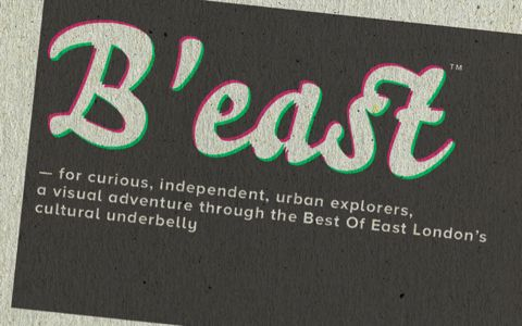 More digital printing on gritty greyboard. And that's not misregister, it's Adrian Philpott's design for Best of East London logo!