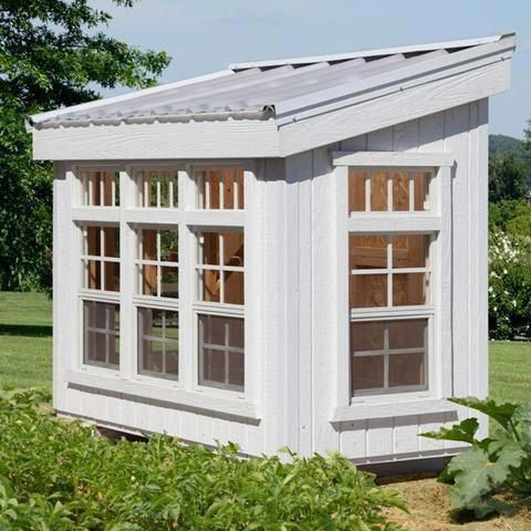 Photo of Little Cottage Company 12 x 12 ft. Garden Shed Greenhouse 12×12-GSG-WPNK