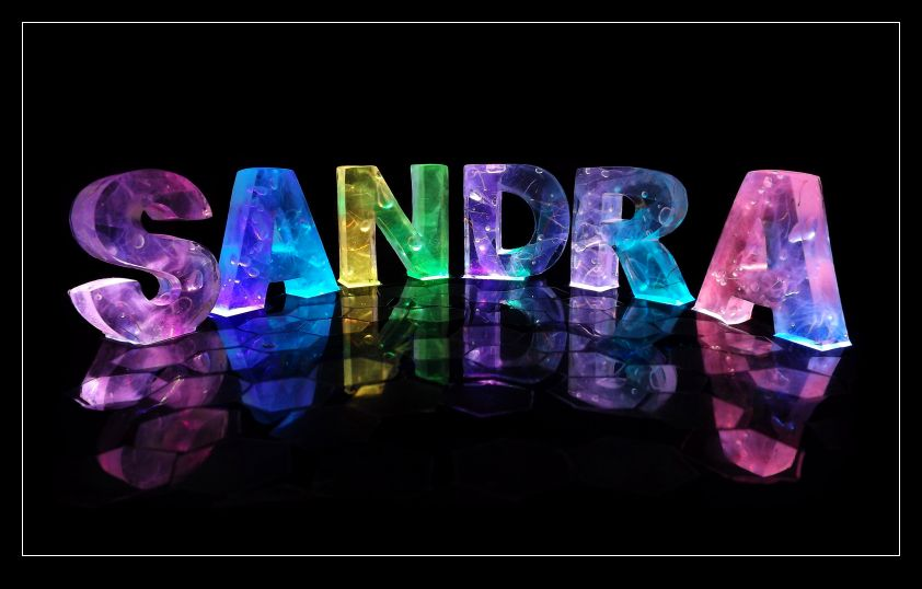 Sandra Name Stickers   Zazzle