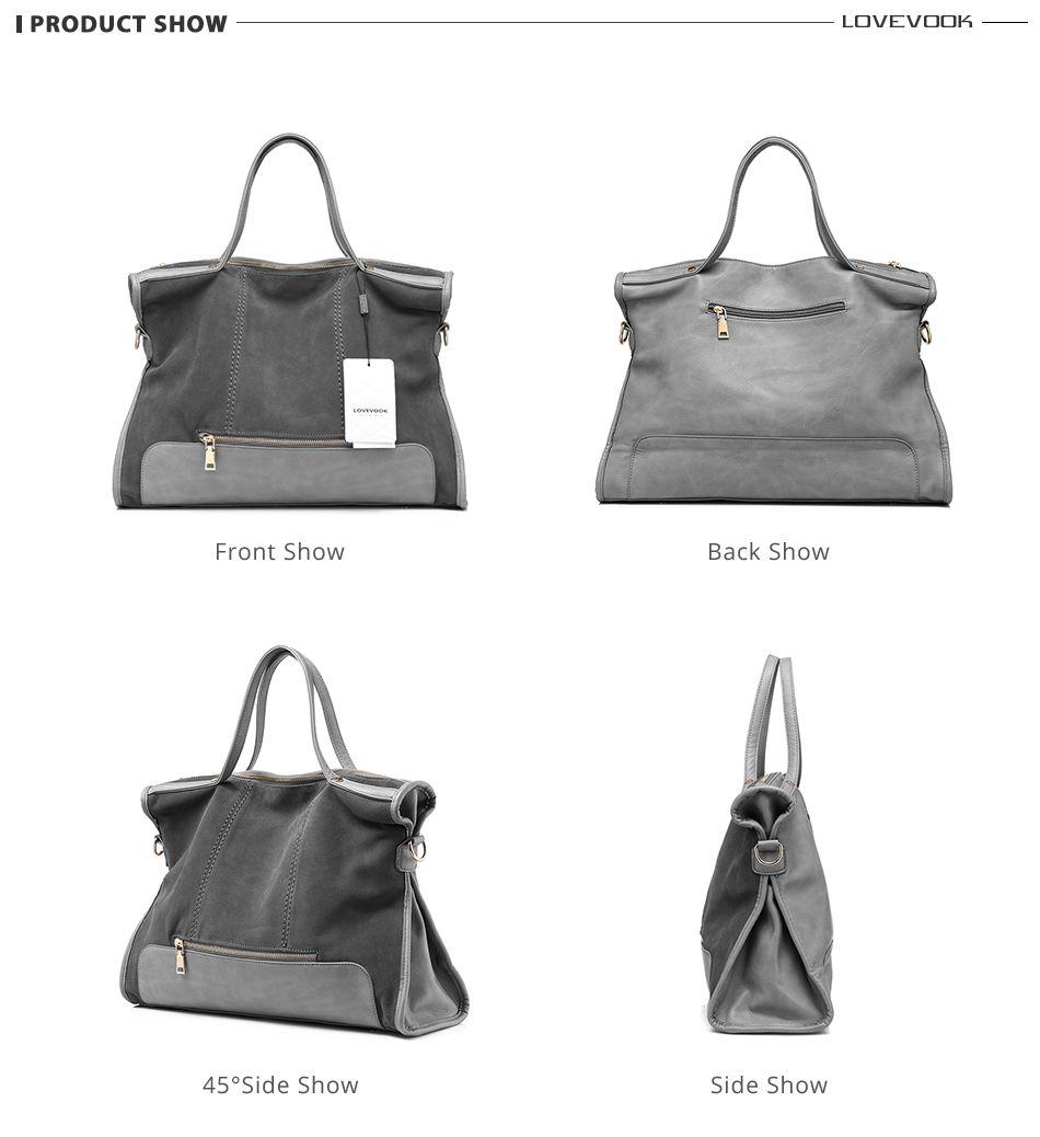 29d1af3fd7e LOVEVOOK brand fashion female shoulder bag high quality patchwork split  leather handbag ladies tote bag for office work - TakoFashion - Women's  Clothing ...