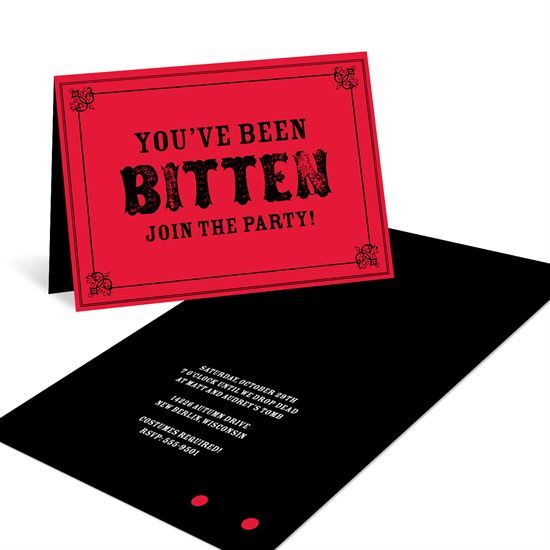frightful bites creative halloween invitations - Creative Halloween Party Invitations
