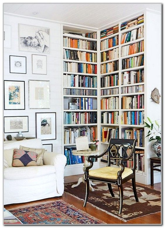 simple home library design ideas with reading space image projects rh pinterest com