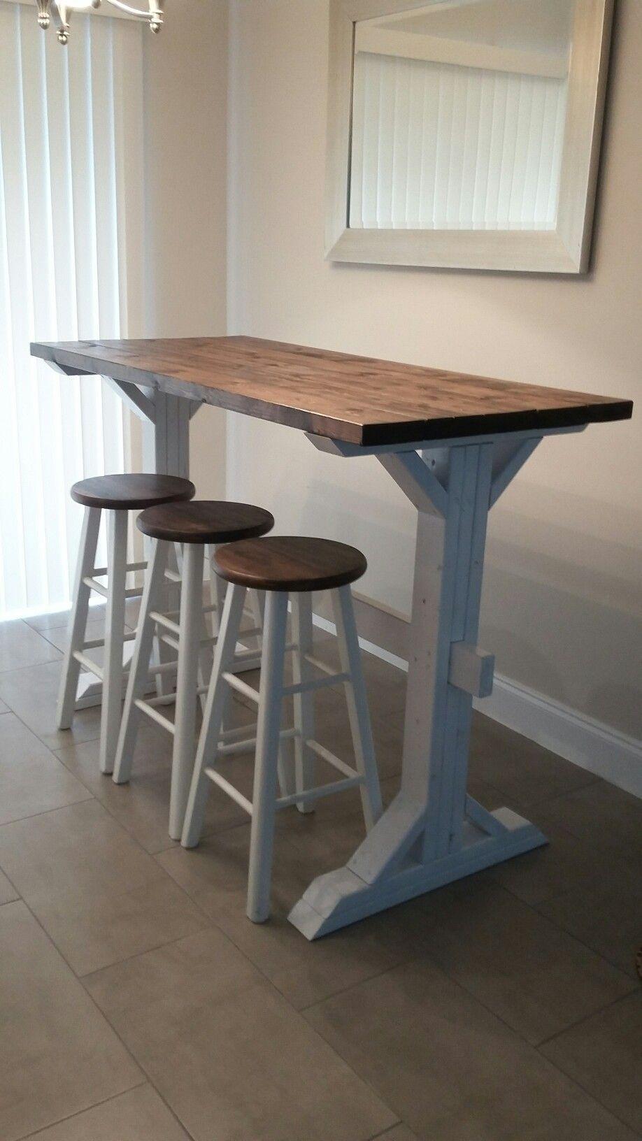Farmhouse style bar height table   Deko tisch, Küche mit theke ...