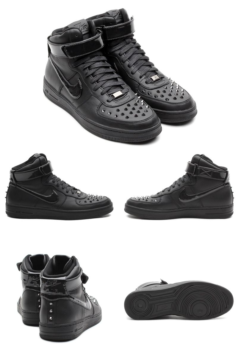 sports shoes cbabe 018b5  楽天市場 NIKE AIR FORCE 1 DOWNTOWN HI SPIKE (BLACK BLACK)(