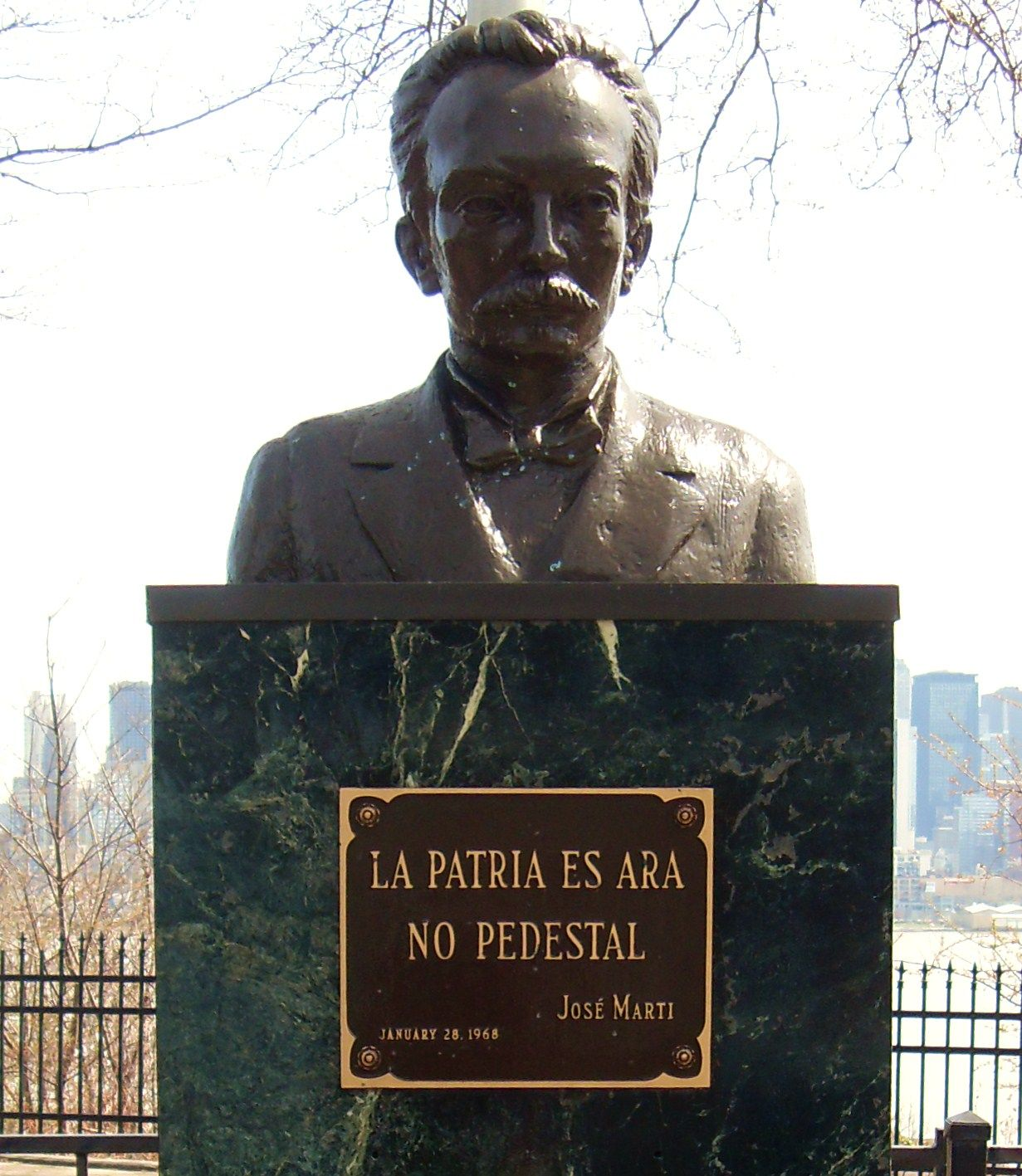 Monument Of Jose Martí In West New York Nj Translated It Reads The Motherland Is An Altar Not A Stepping Stone West New York Historical Sites Monument