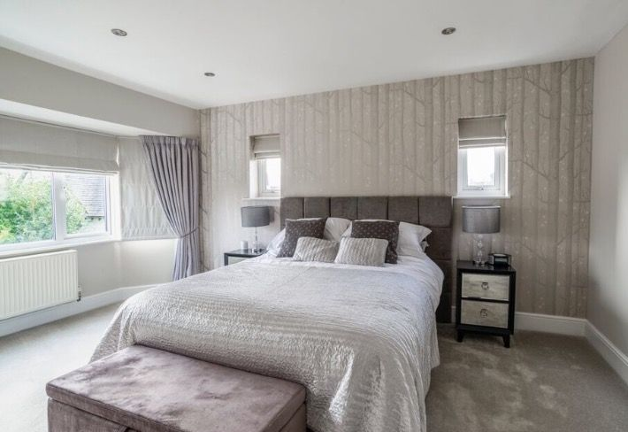 Grey And Silver Bedroom With Cole And Son Woods And Stars