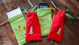 Drawstring Gift Bag Tutorial #clothnapkins