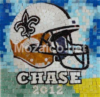 Custom Football Mosaic