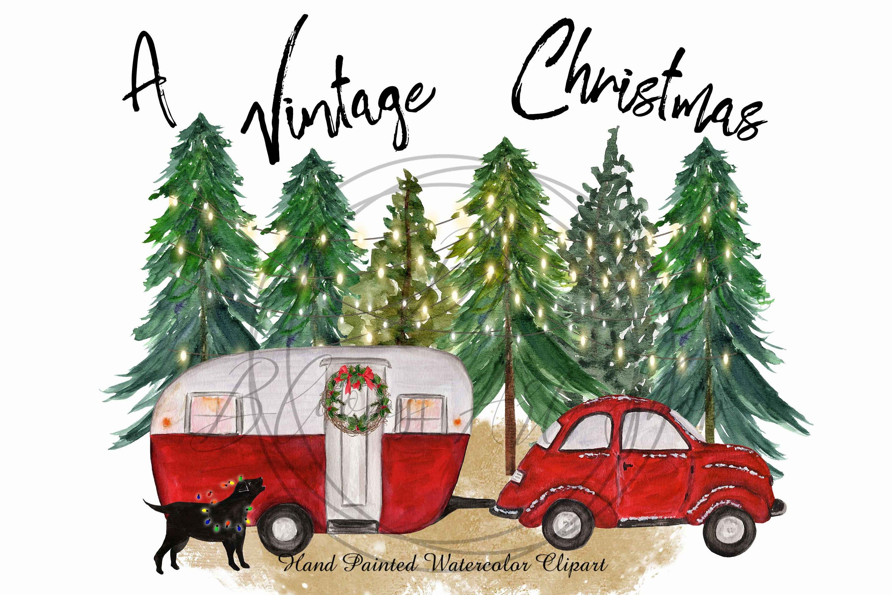 Pin By Rich On Card Ideas In 2021 Vintage Camper Retro Cars Christmas Prints