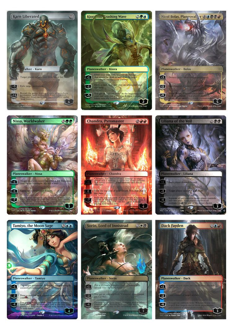 Print Template For 9 Of My Planeswalkers Mtg Altered Art Magic Crafts Mtg Art