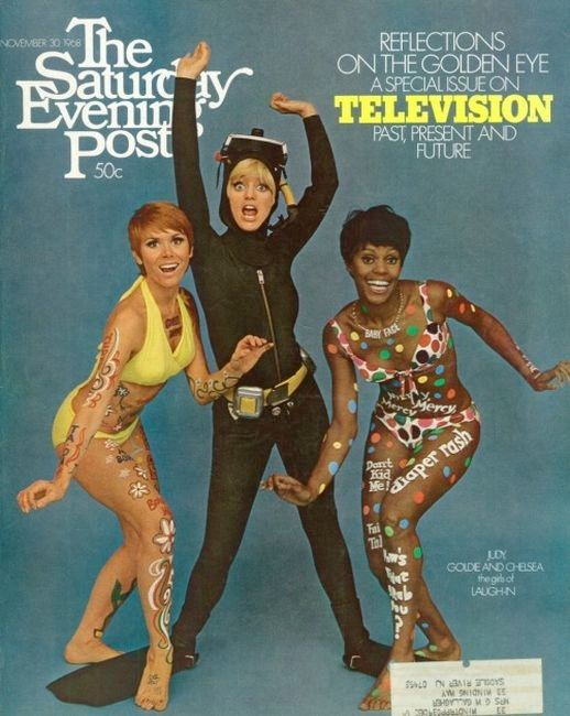 68-11-30 Judy Carne, Goldie Hawn, and Chelsea Brown, Saturday Evening Post