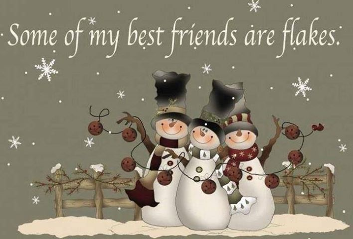 Some Of My Best Friends Are Flakes Funny Quotes Cute Friendship Quote Winter Friendship Quotes Funny Quotes H Christmas Art Christmas Paintings Christmas Cards