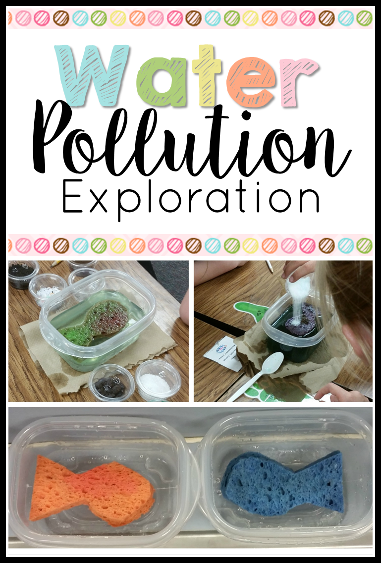 Gross but good activity on water pollution. Dump a bunch of gunk ...