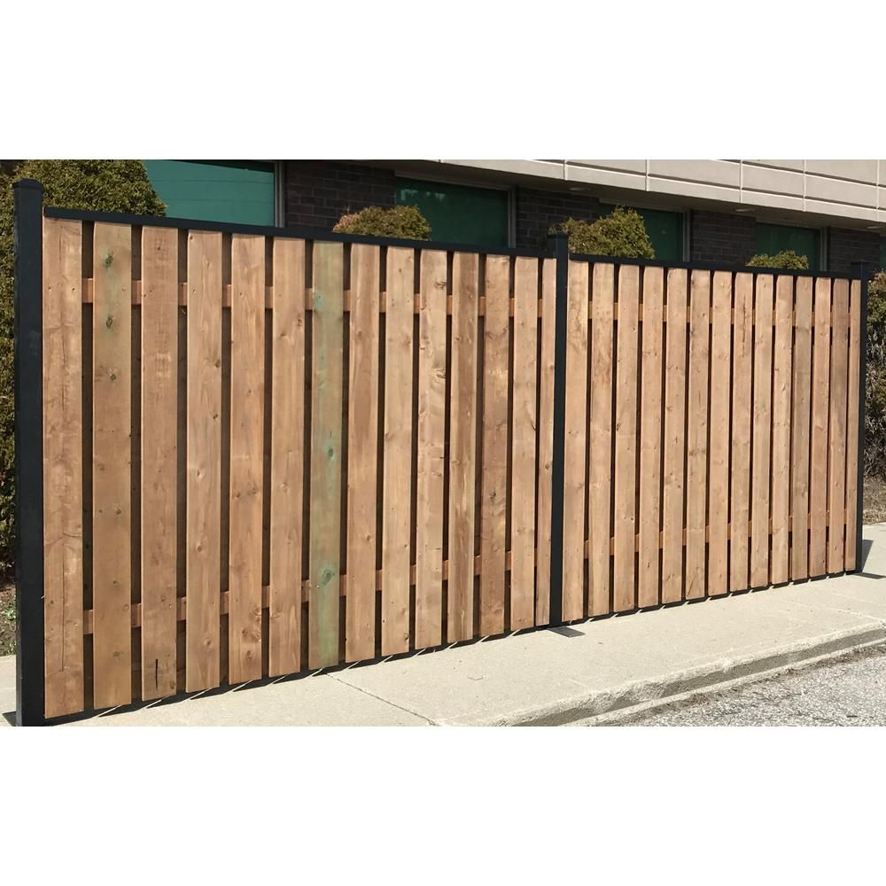 Slipfence 3 In X 3 In X 10 Ft 4 In Black Powder Coated Aluminum Fence Post Includes Post Cap Sf2 Pk310 The H In 2020 Aluminum Fence Fence Post Shadow Box Fence