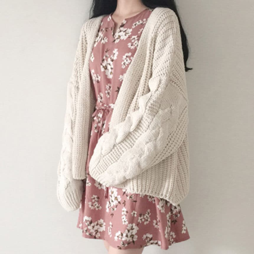 Moon City Cable-Knit Cardigan | YesStyle