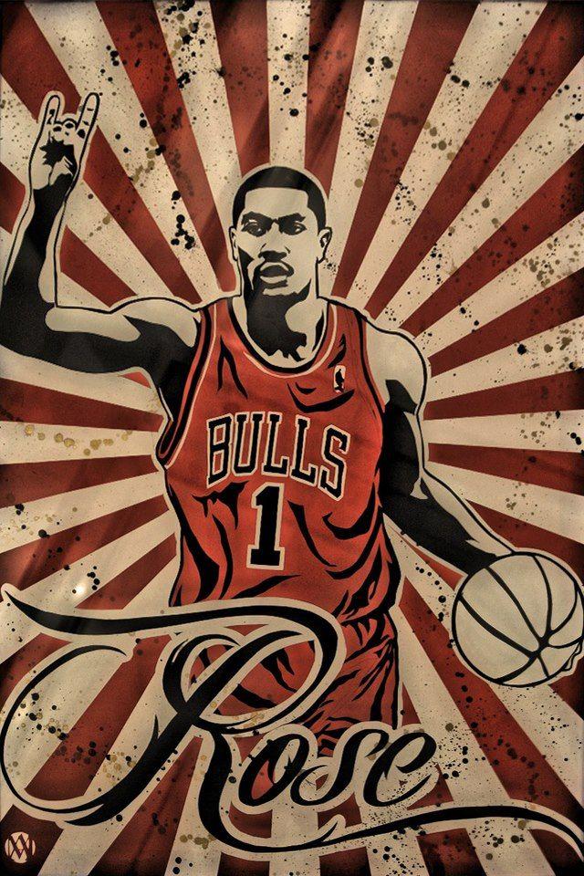 29824a3b1dc D. Rose. D. Rose Chicago Bulls Basketball ...