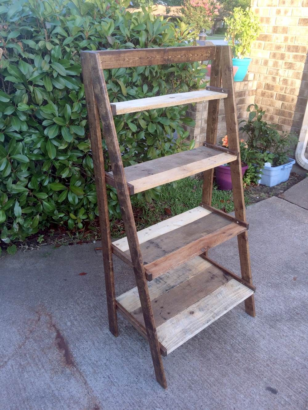 ana white pallet wood painter s ladder shelf diy on useful diy wood project ideas id=52991