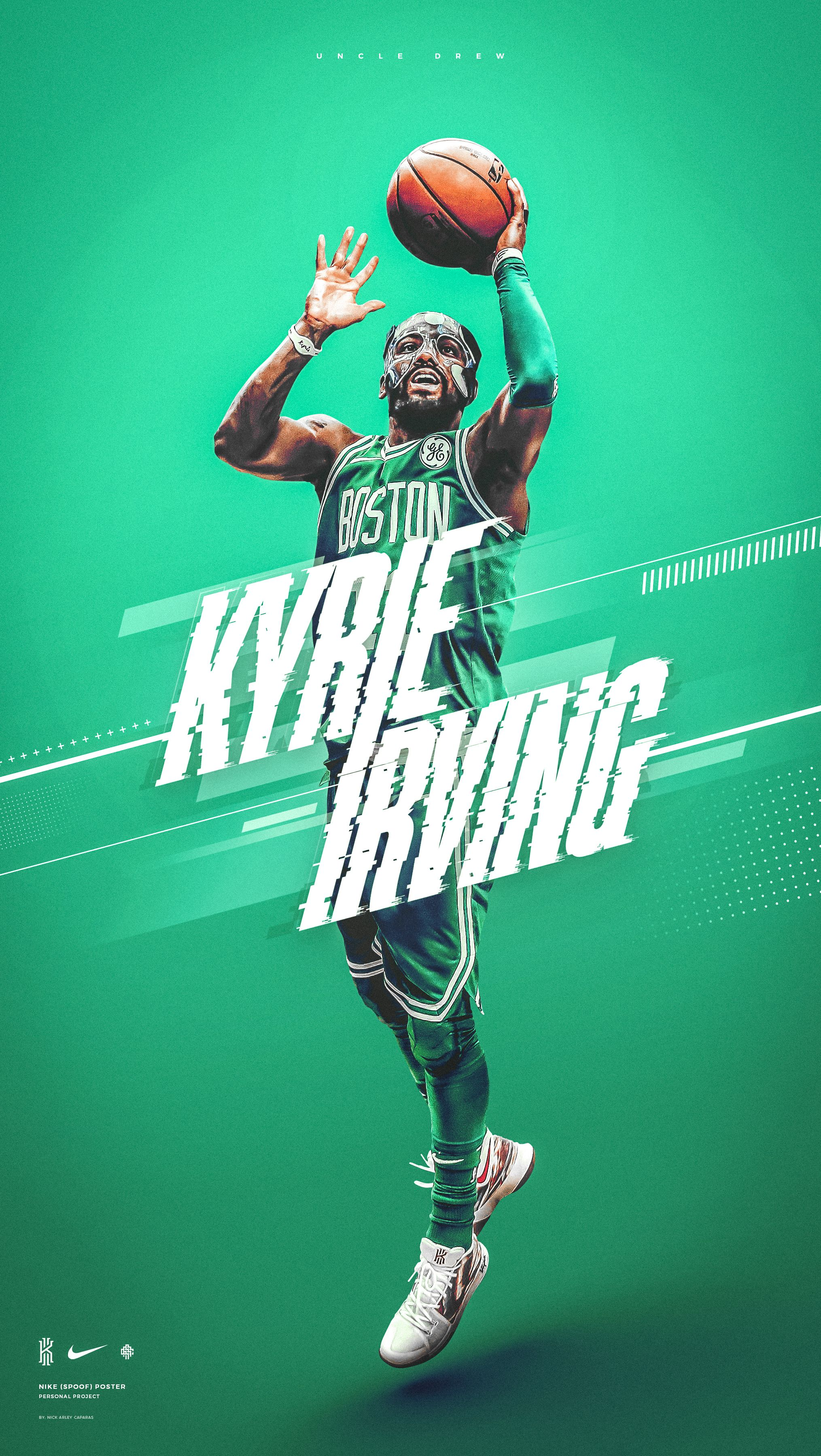 Nike Wallpaper Kyrie Irving 11 Boston Celtics On Behance Irving Wallpapers Kyrie Irving Sports Design