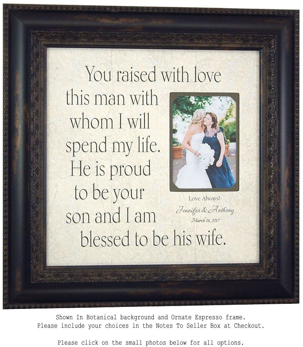 Mother In Law Gift, Parents Thank You Gift, Parents of the Groom ...