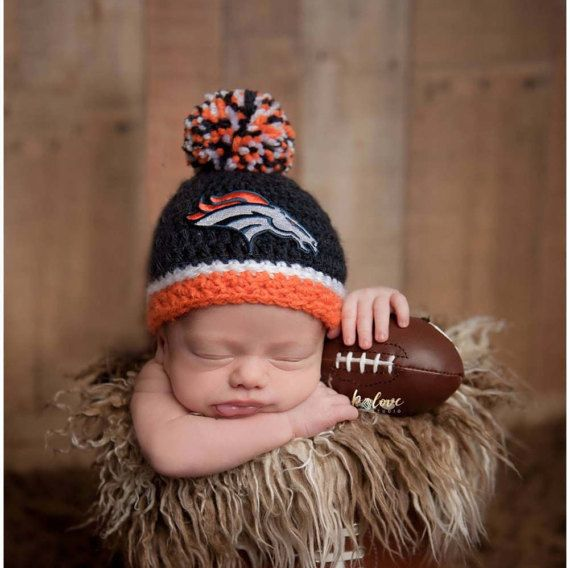 b192444ea Denver Broncos football hat for newborn baby boy or girl