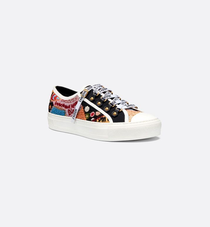 walk'n'dior trainer in embroidered