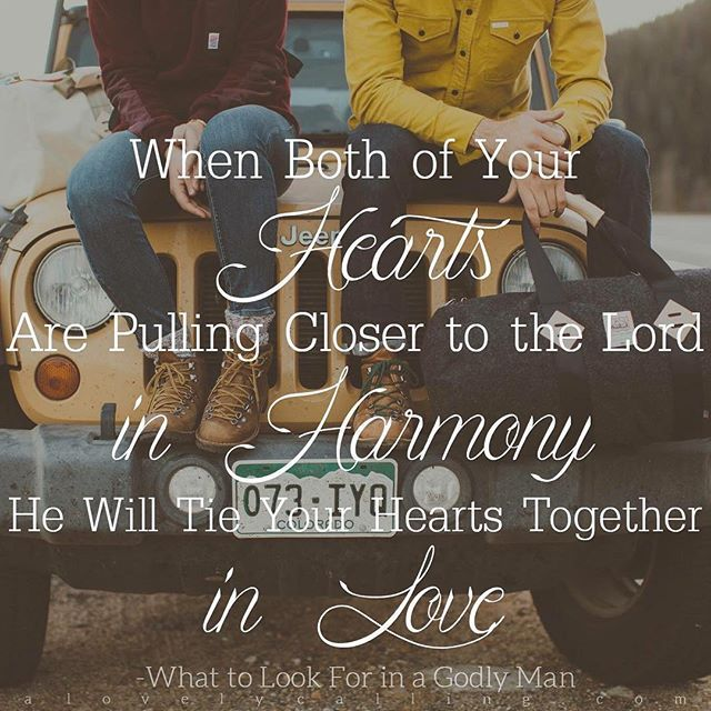 """Godly Love For Each Other: """"When Both Of Your Hearts Are Pulling Closer To The Lord"""