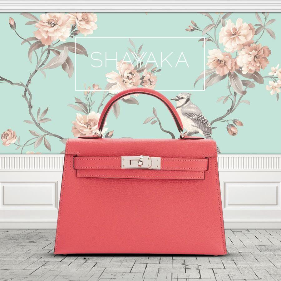 98063e95d7ac Hermès Kelly Mini in Rose Lipstick Chevre Leather and Palladium Hardware