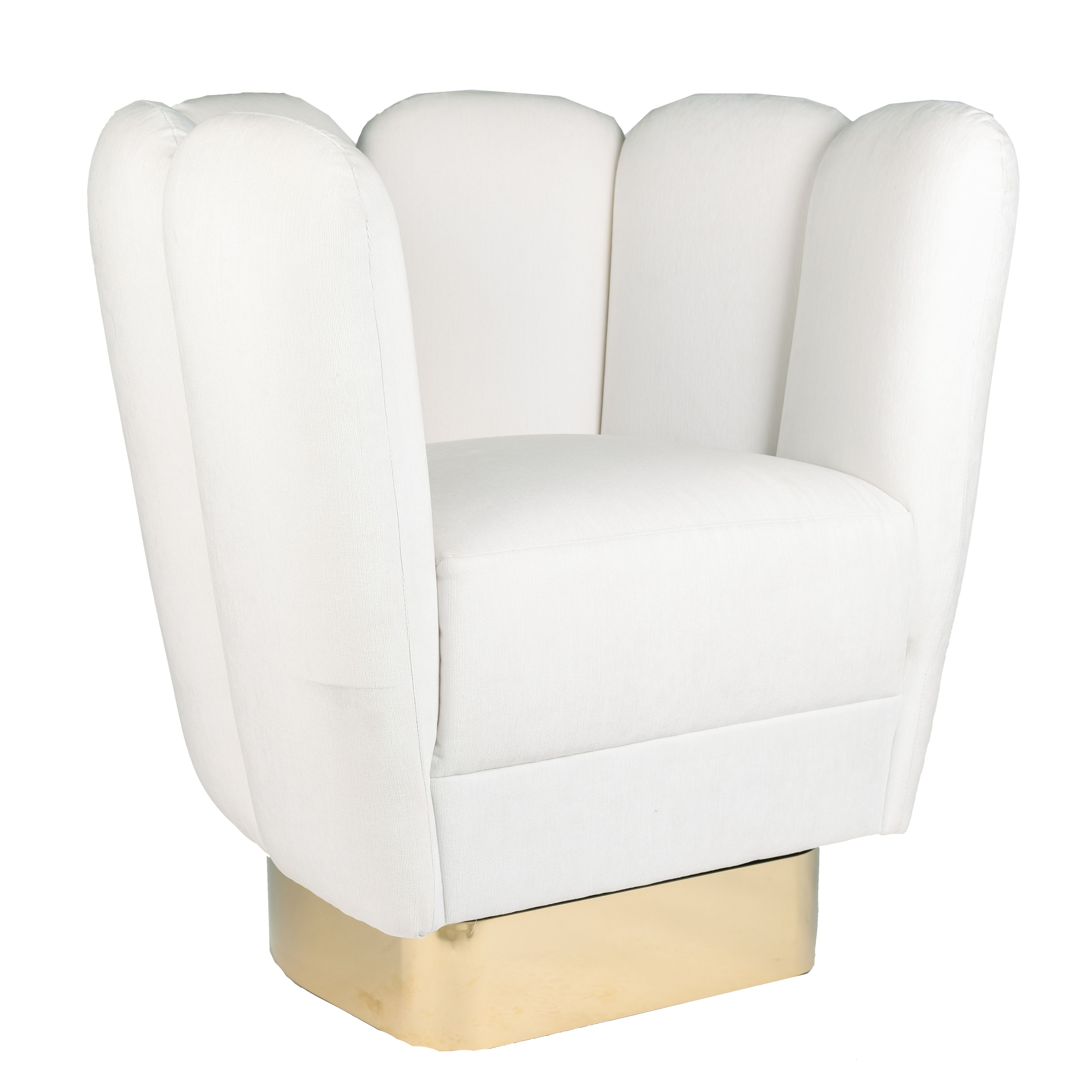 Best White Glove Swivel Chair With Brass Base Blue Print 640 x 480